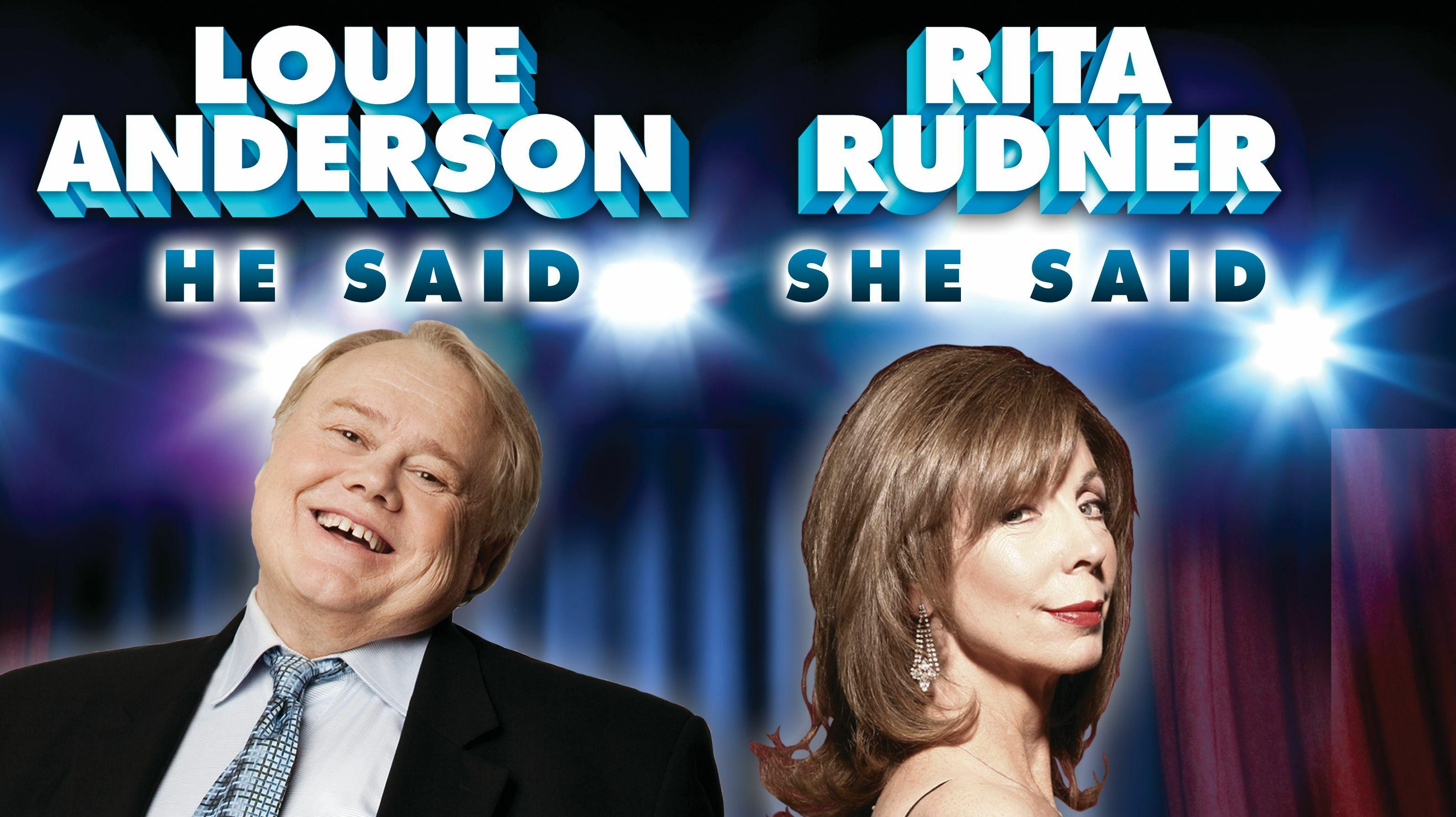 Louie Anderson and Rita Rudner