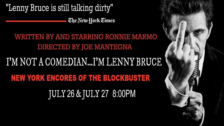 """""""I'm Not A Comedian…I'm Lenny Bruce"""""""