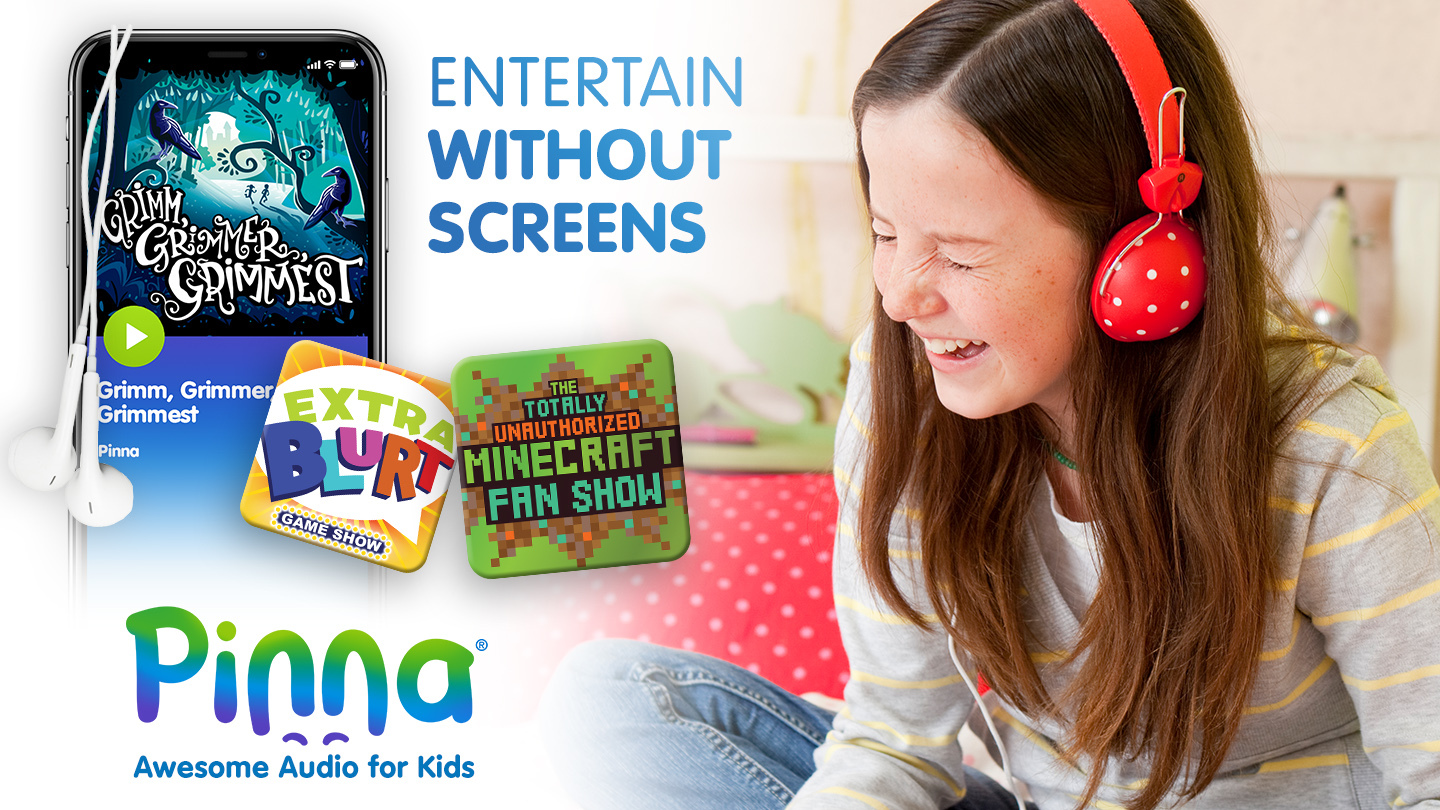 Pinna: Premium Podcasts, Audiobooks and Music for Kids Age 3-12 -- Online Subscription