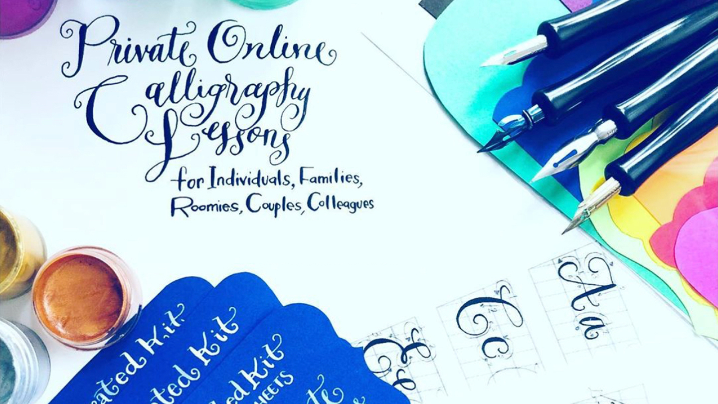 Online Private Calligraphy Lessons Live: Interactive with a Pro Artist