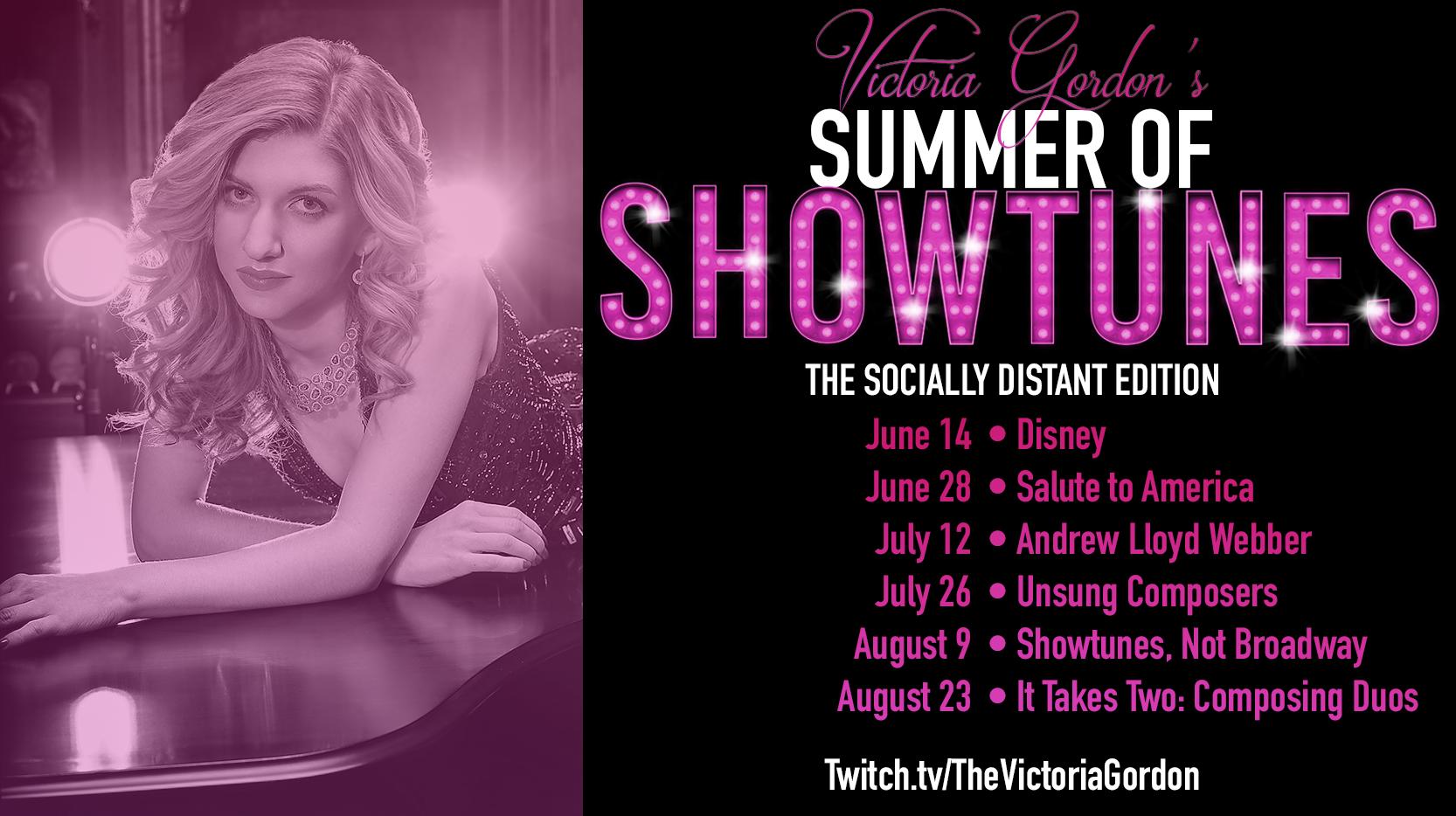 """Victoria Gordon's """"Summer of Showtunes"""" Online"""