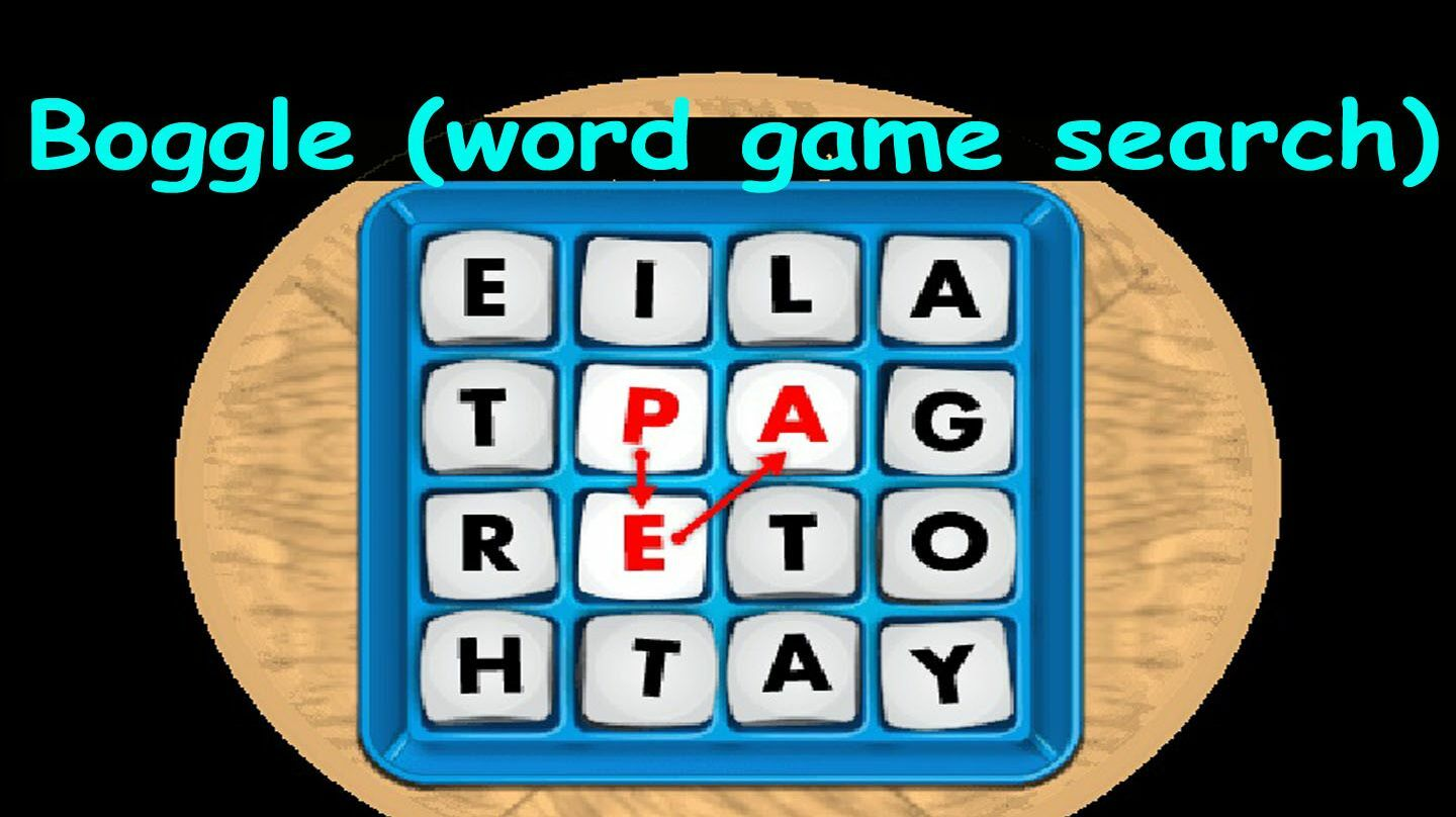 BOGGLE Your Mind WORD SEARCH Party -- Online