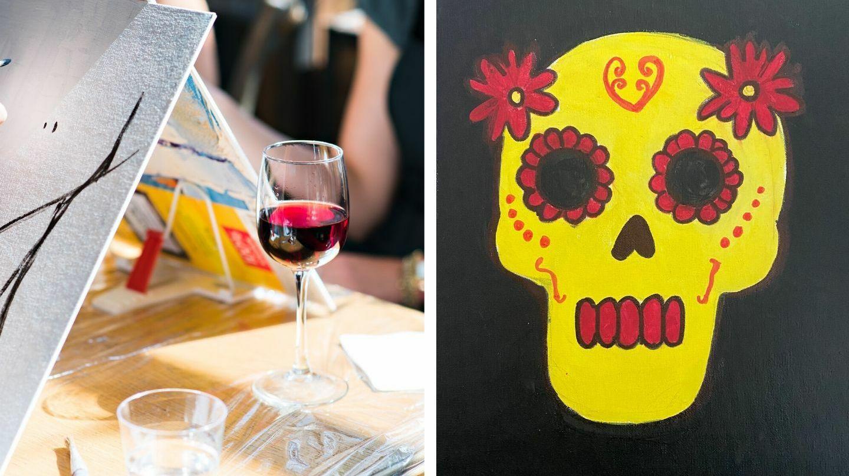 Dias De Muertos Virtual Painting Party