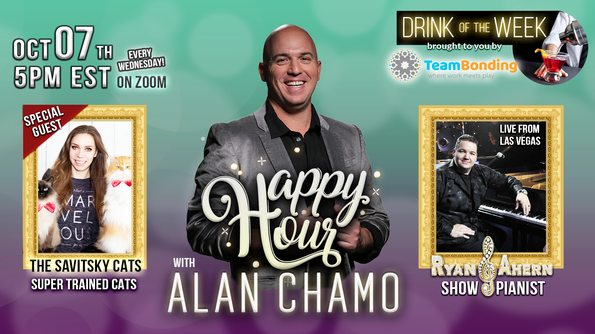 Happy Hour with Alan Chamo Featuring The Savitsky Cats -- Online