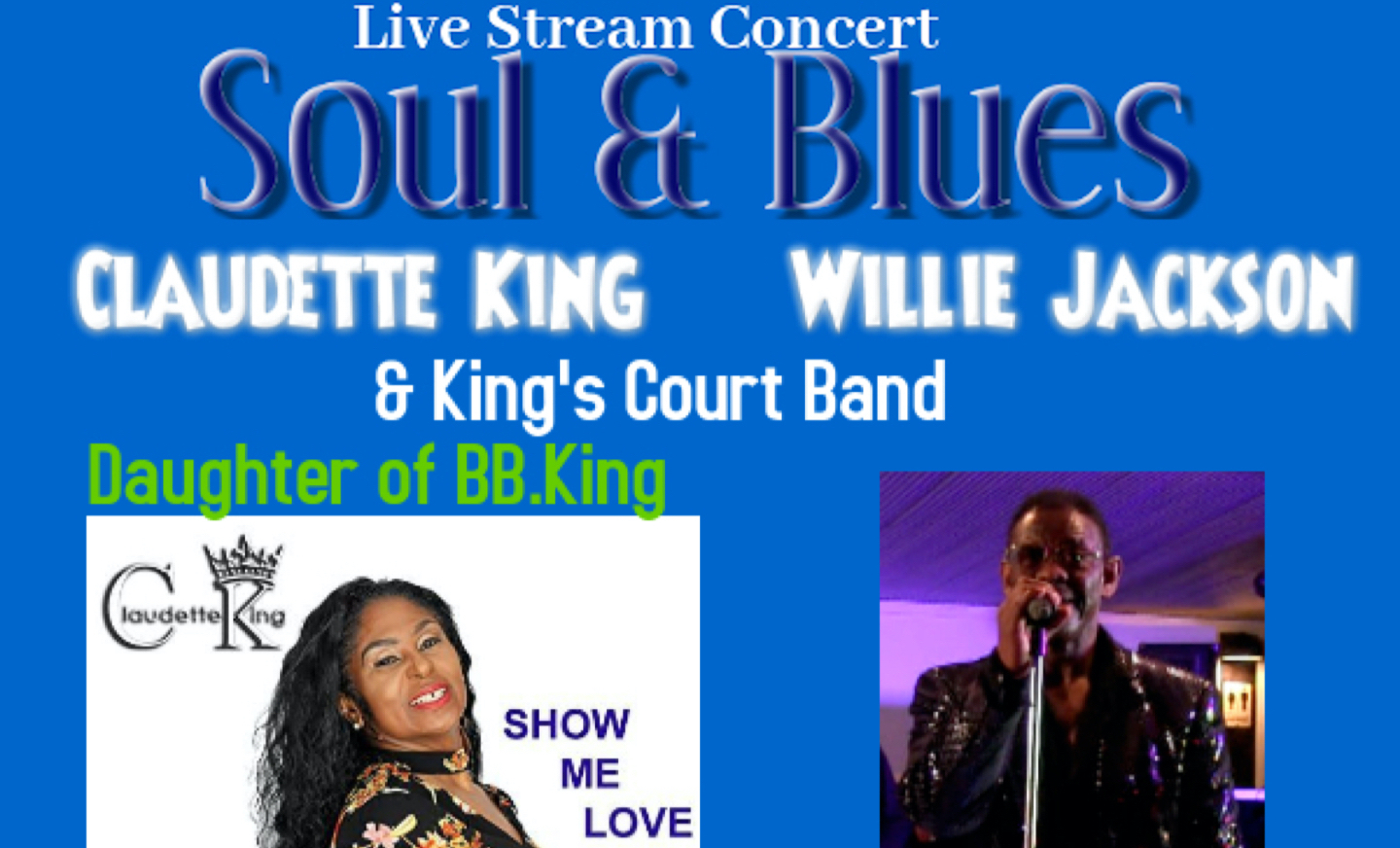 """Soul & The Blues """"Live in your Living Room"""" -- Livestream + VOD"""