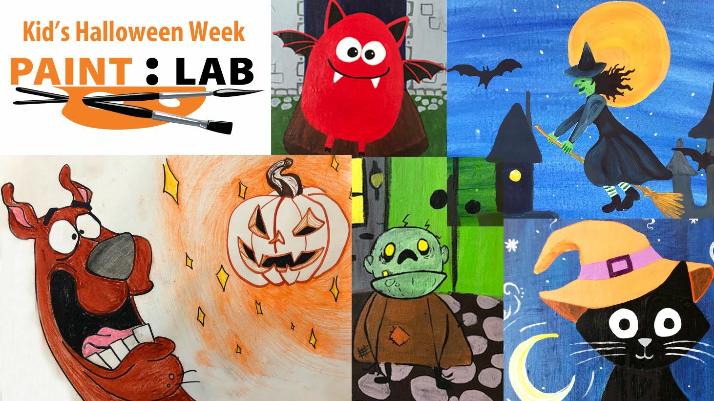 Kid's Halloween Themed Art Classes -- Online