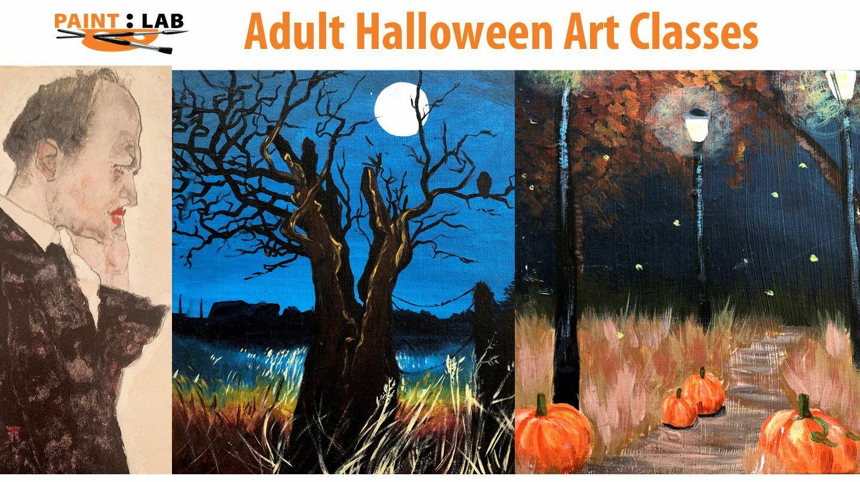 Adult's Halloween Themed Art Classes -- Online