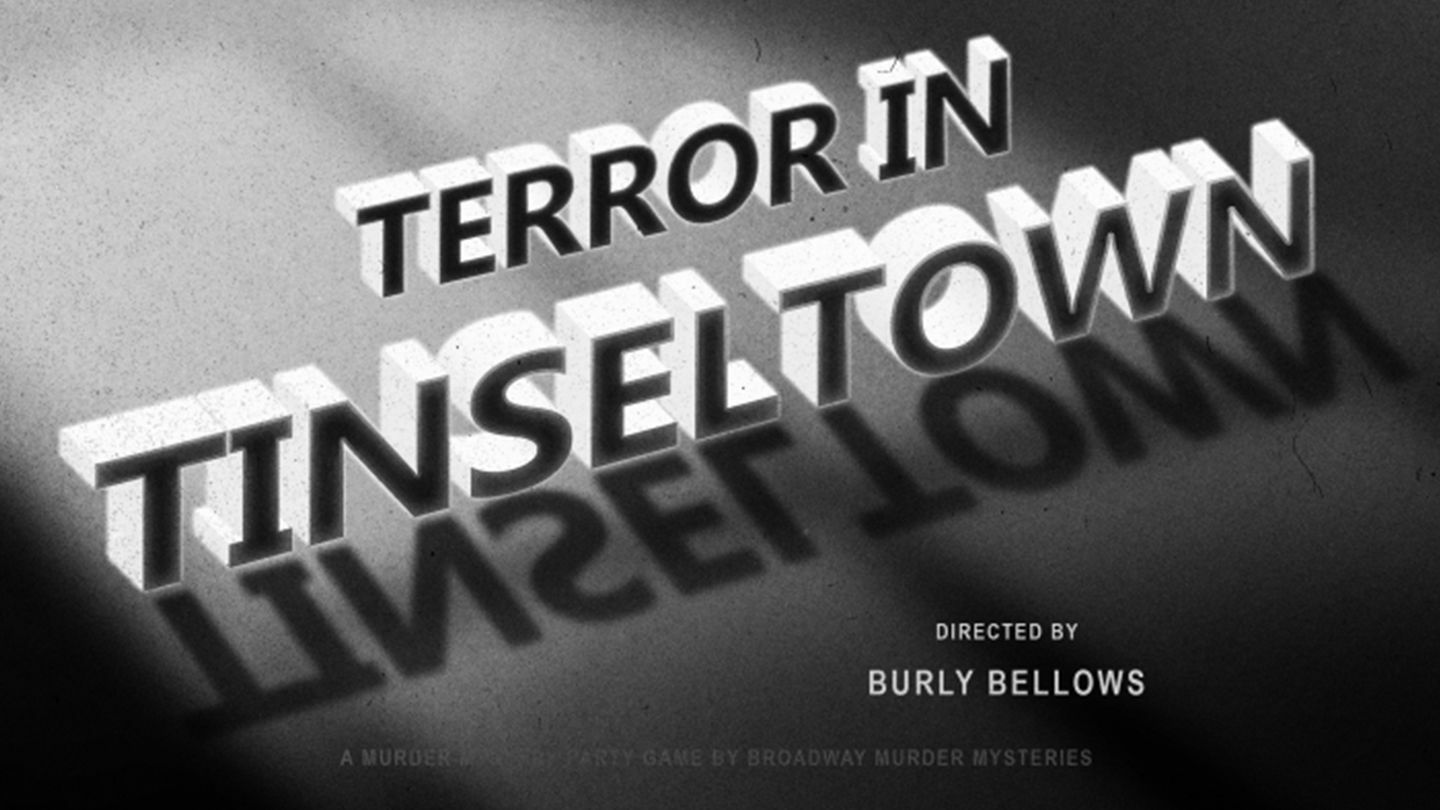 """""""Terror in Tinseltown"""": A 1920s Hollywood-Themed Murder Mystery Game"""
