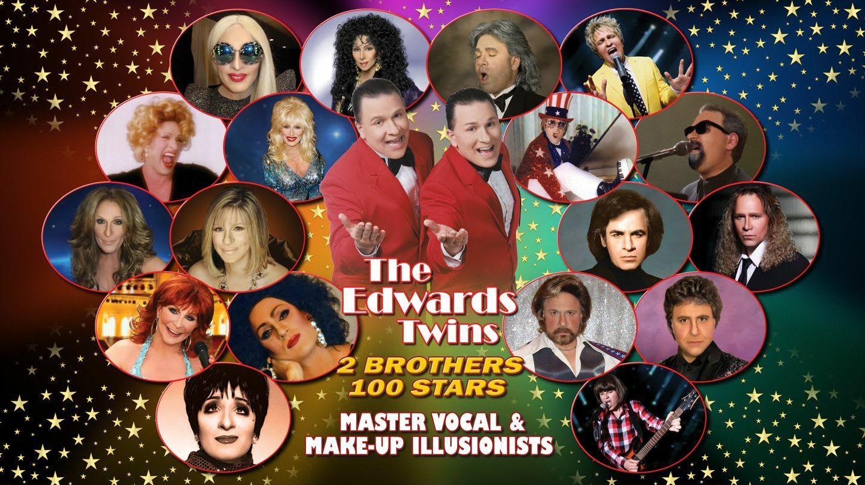 Cher, Elton, Gaga, Streisand & More Vegas Edwards Twins Impersonators -- Online