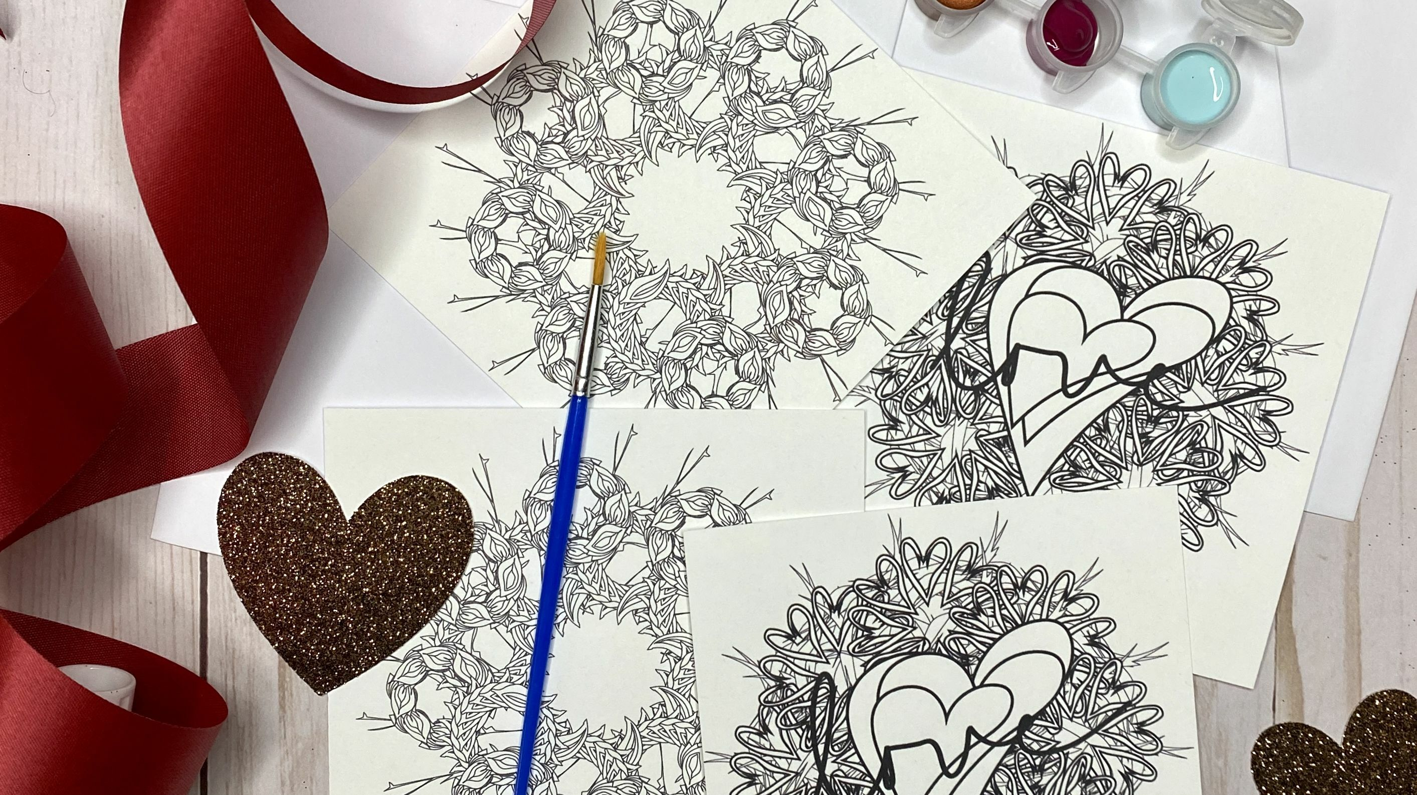 Online Valentine's Day Card Making Party