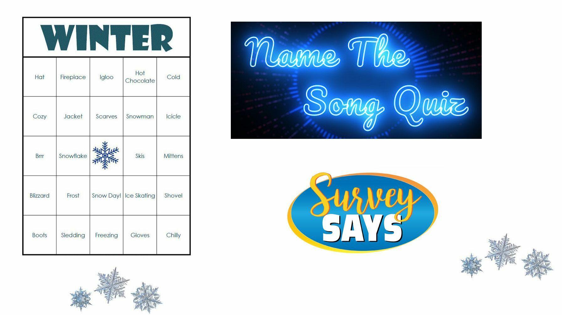 Name that Song, Word Bingo, Survey Says- Fun & Games Virtual Event