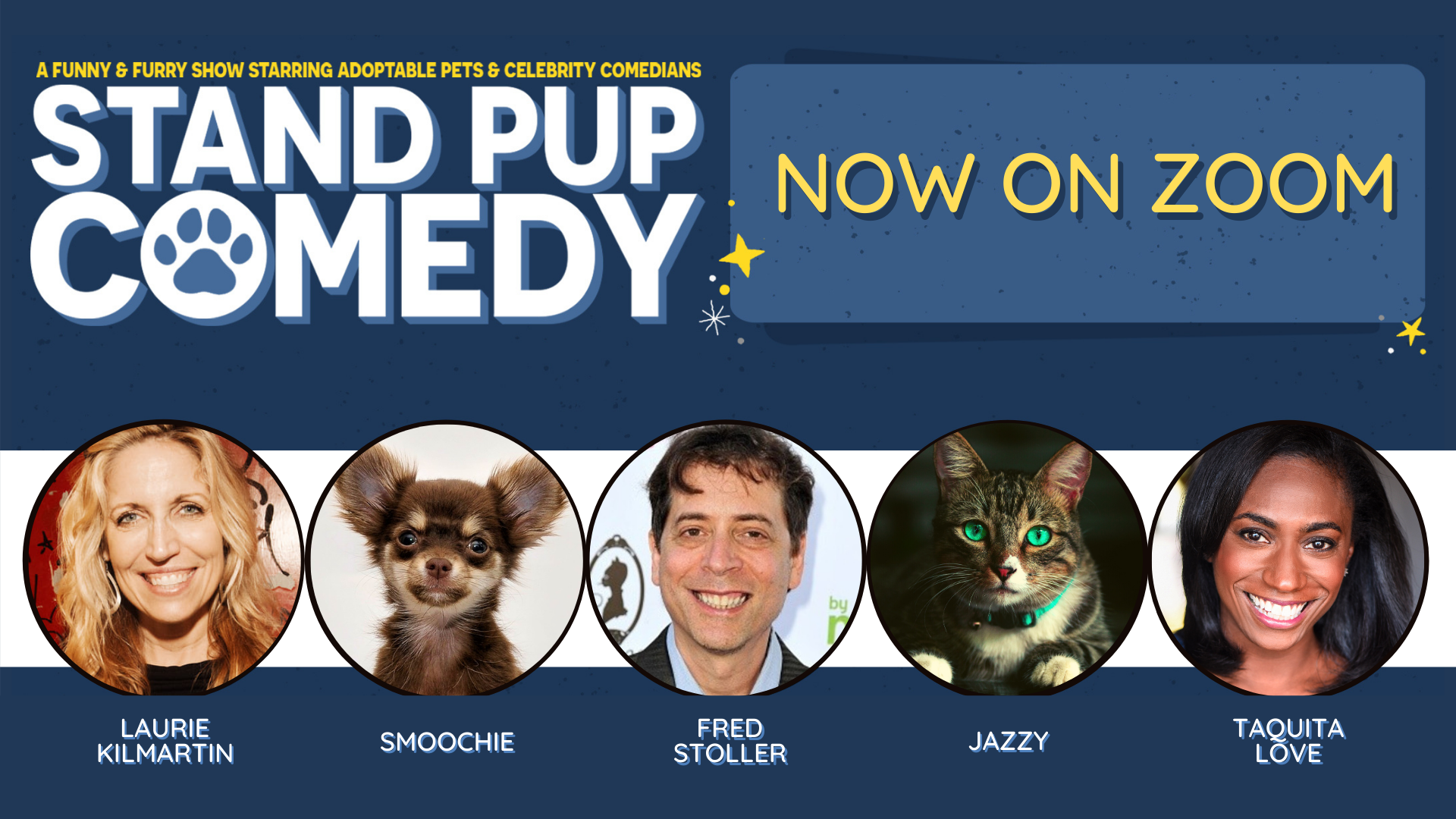 Dogs, Cats & Comedians - It's Stand Pup Comedy Online!