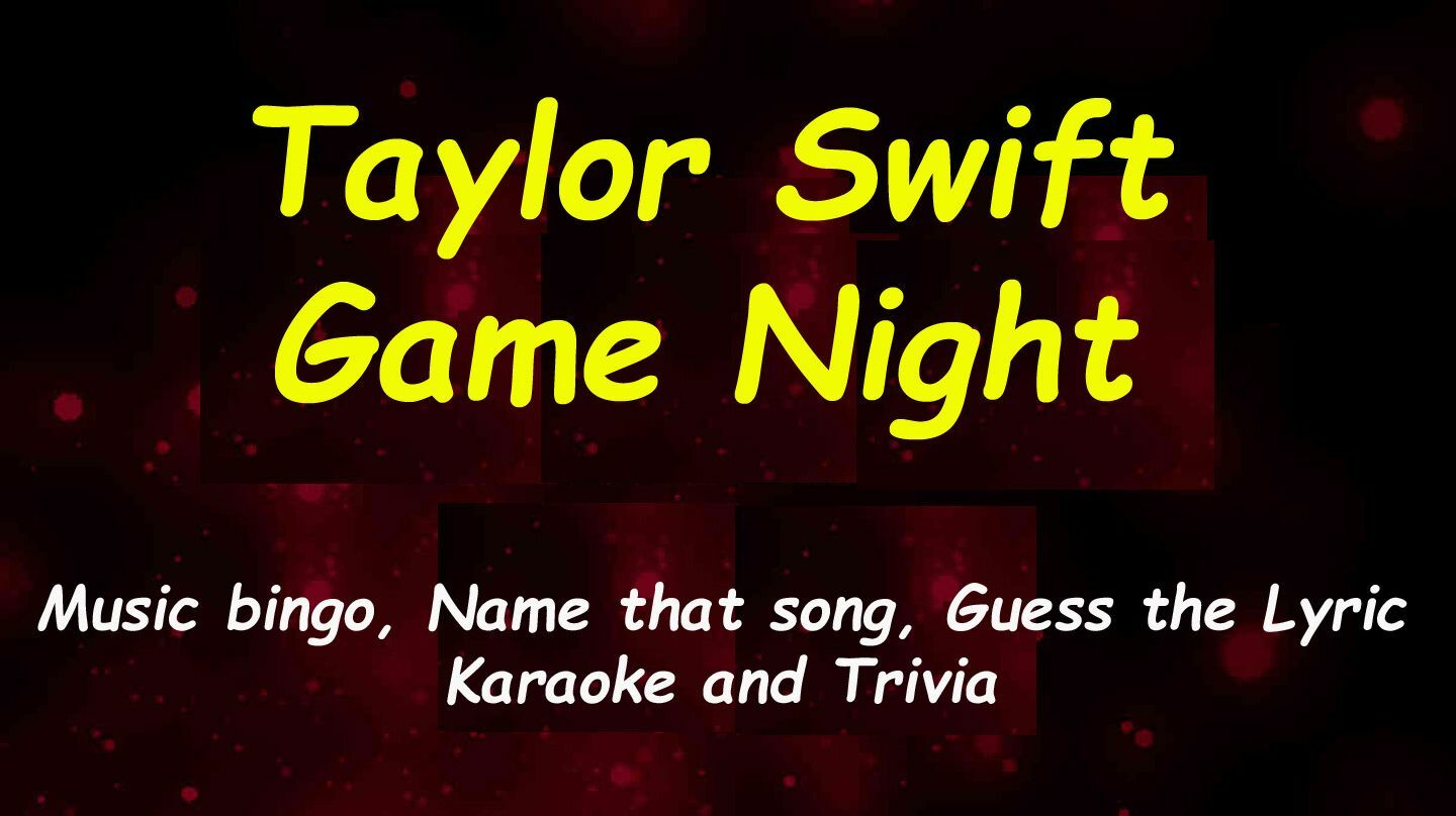 Taylor Swift Ultimate Game Night & Karaoke - Online