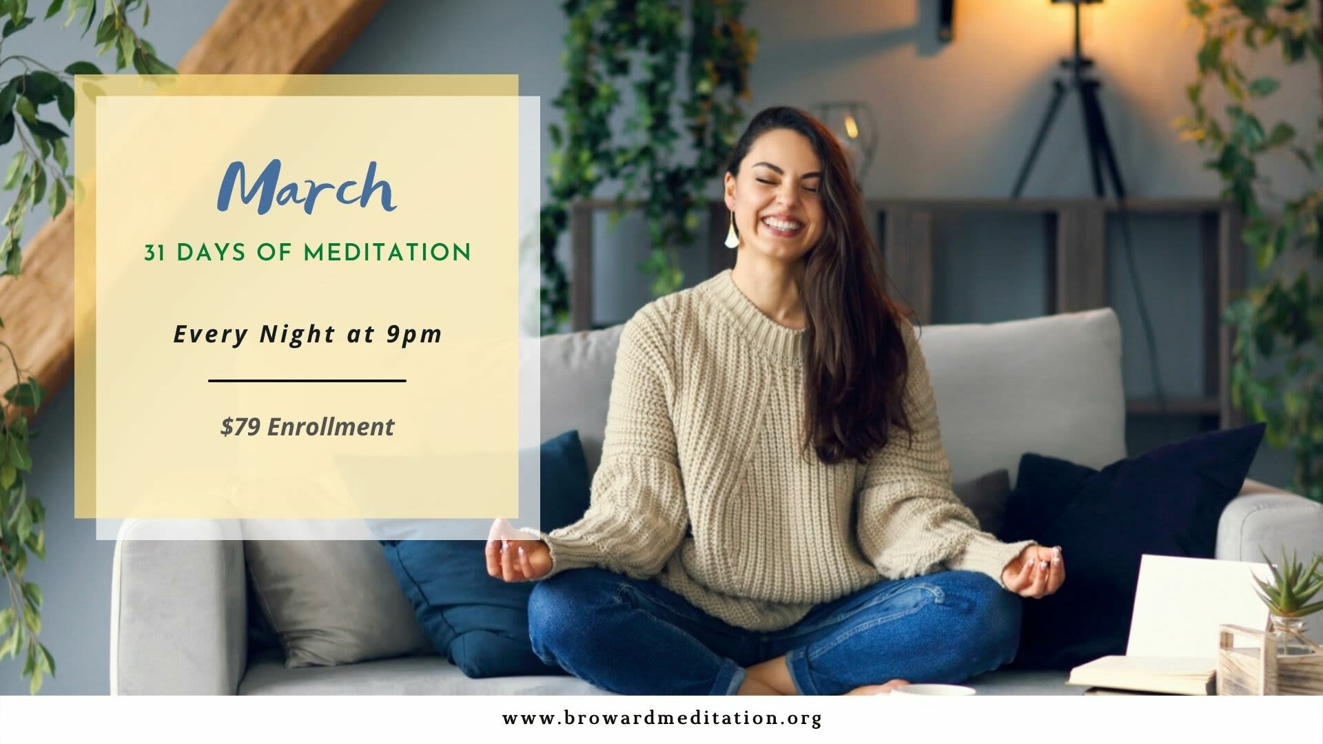 March: 31 Day Guided Meditation Retreat - Online