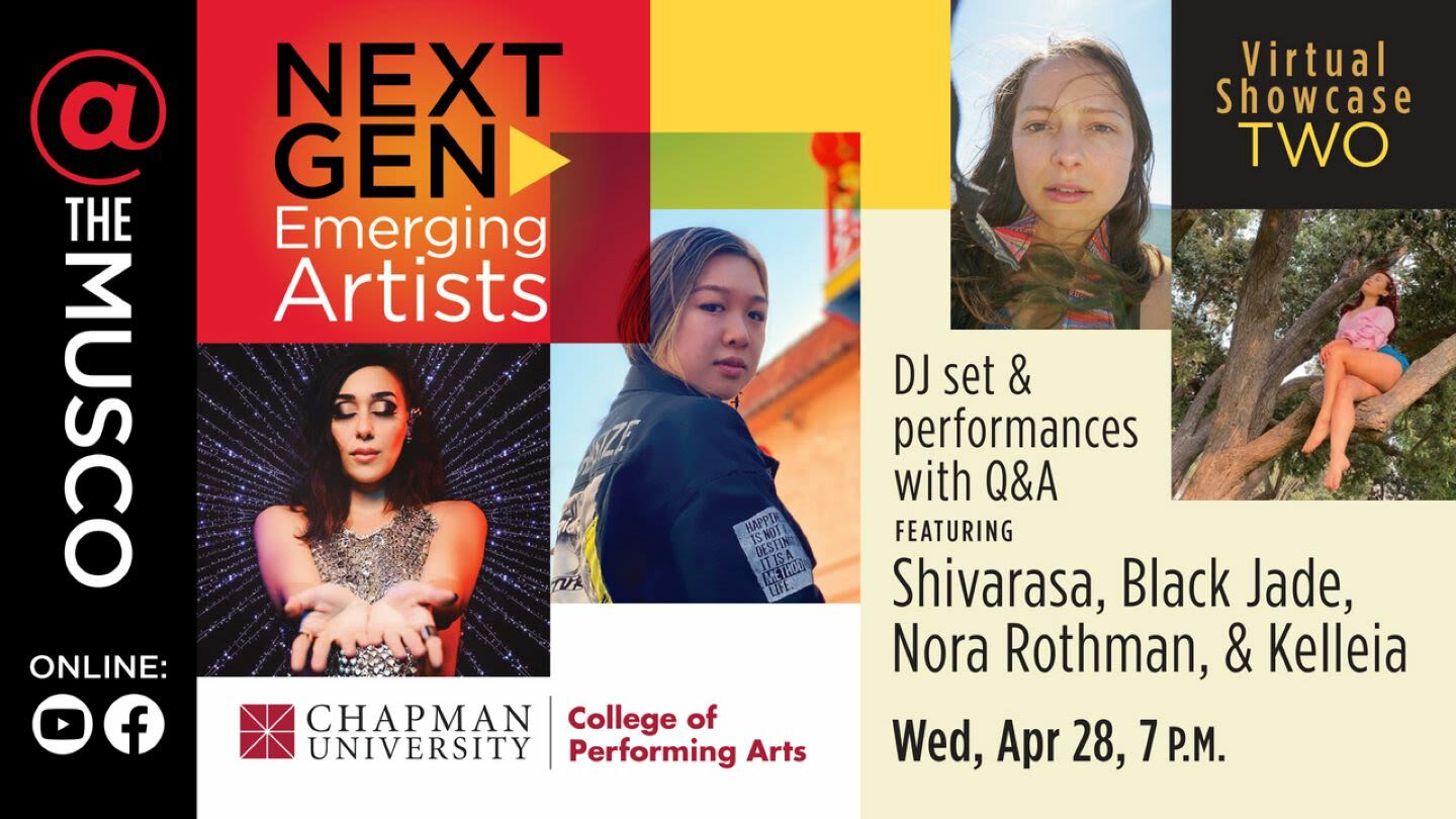 Next Gen: Emerging Artists Virtual Showcase TWO -- Online