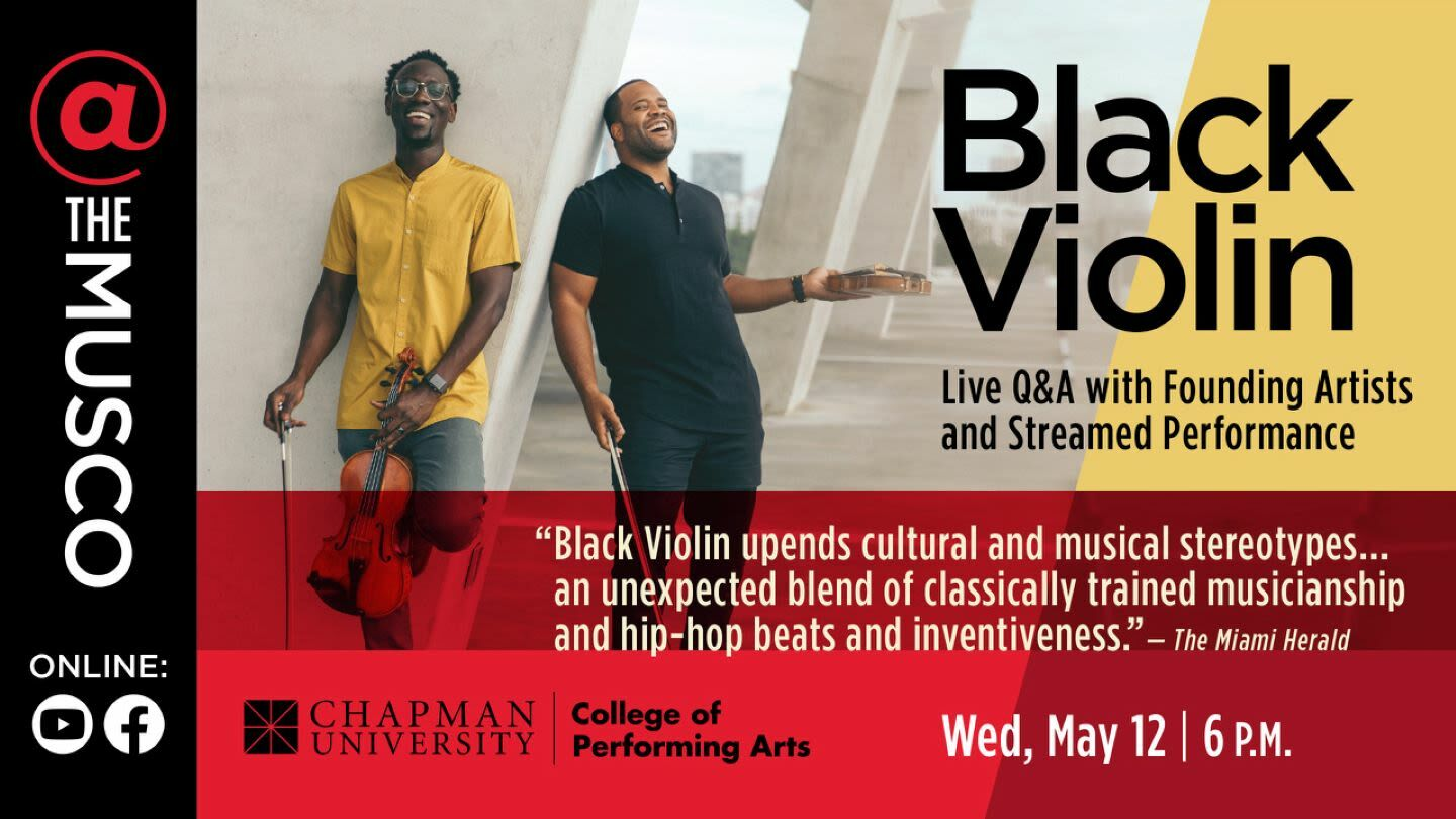 Black Violin: Live Q&A with Founding Artists and Streamed Performance -- Online