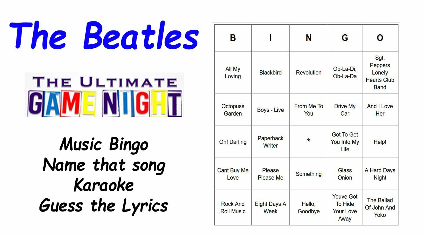 The Beatles Ultimate Game Night (Virtual): Music Bingo, Name Song, Karaoke