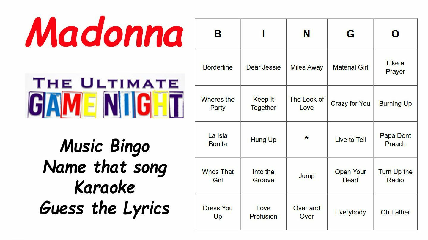 Madonna Ultimate Virtual Game Night — Online