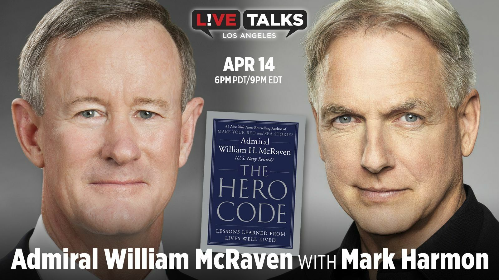 Admiral William H. McRaven with Mark Harmon - Online