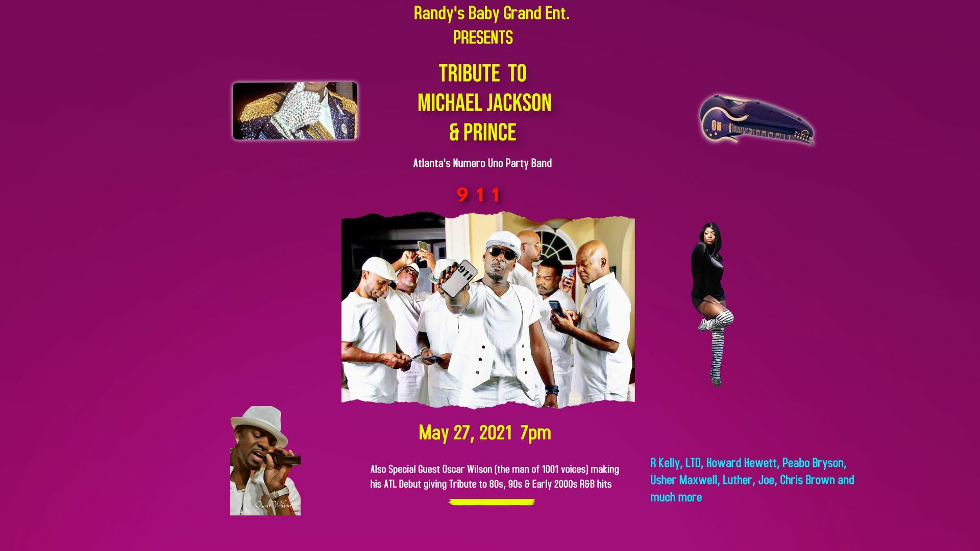 Michael Jackson and Prince Tribute -- Livestream + VOD