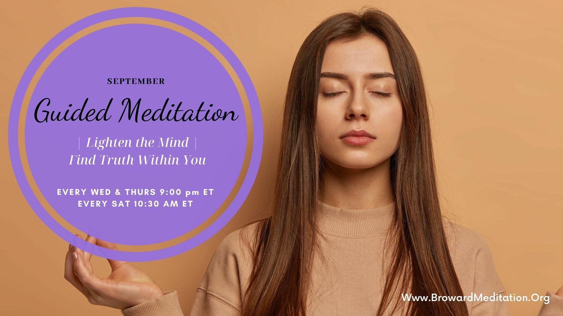 Guided Meditation: Lighten the Mind -- Online