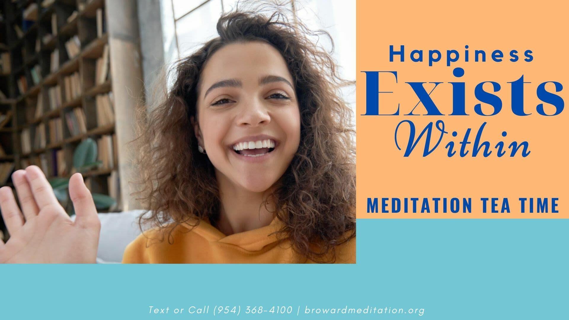 """Meditation Tea Time"": Informational Online Conversation"