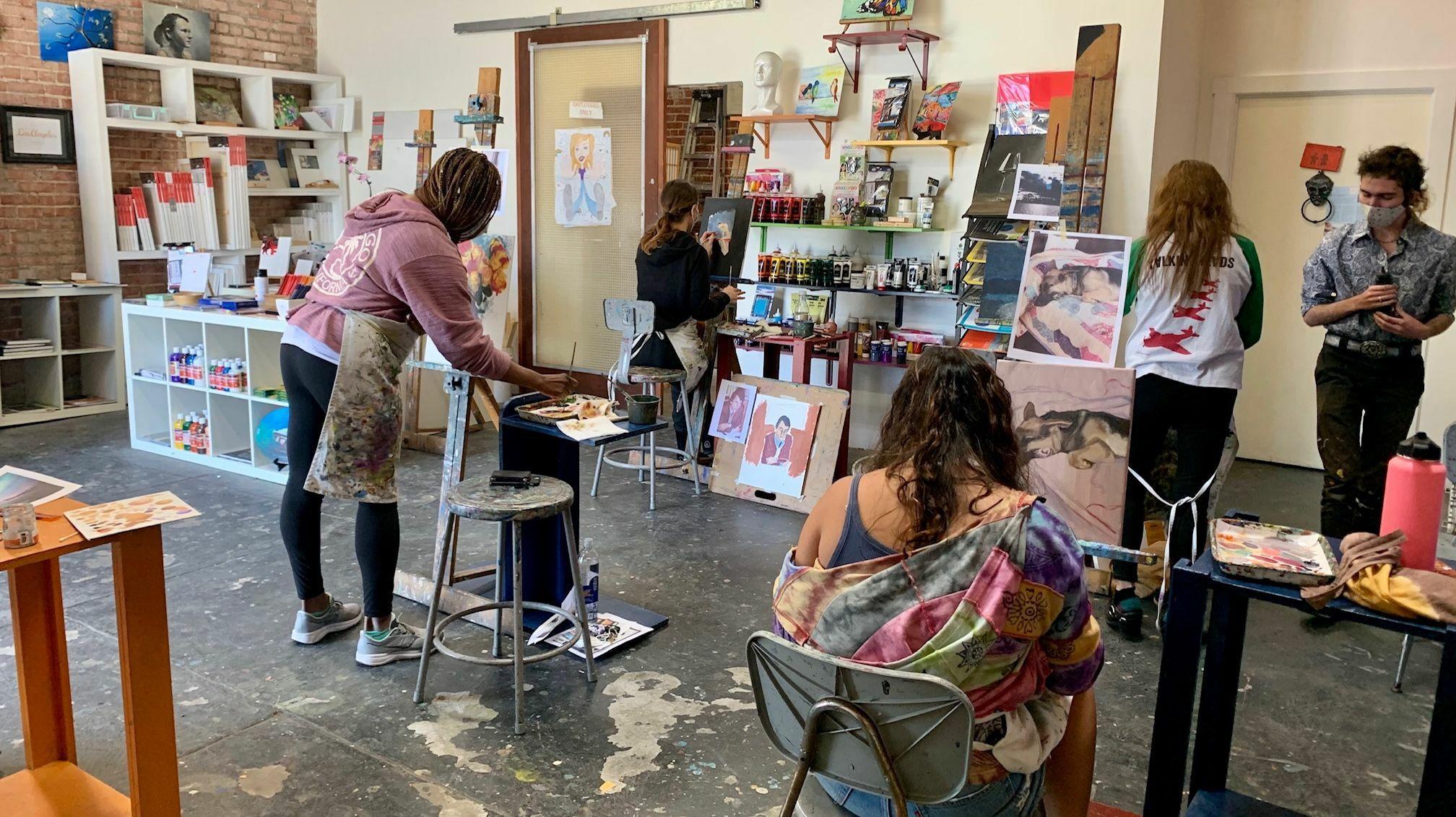 In Studio Acrylic & Oil Painting Workshop