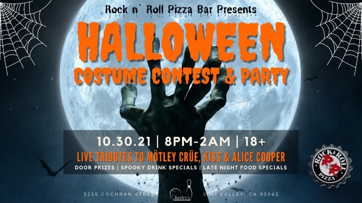 Halloween Party With Motley Crue, Kiss and Alice Cooper Tribute Bands