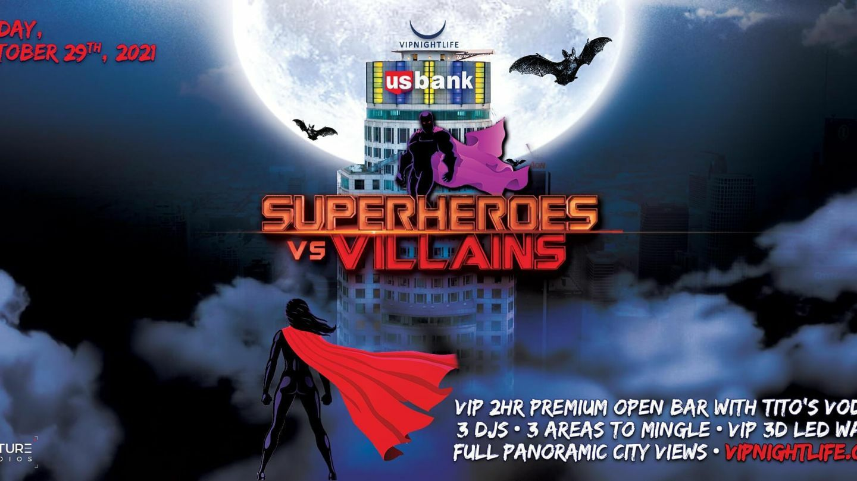 Superheroes vs Villains Tower: Halloween Party