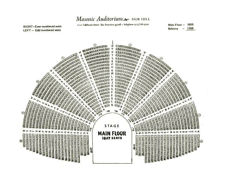 The masonic san francisco tickets schedule seating charts