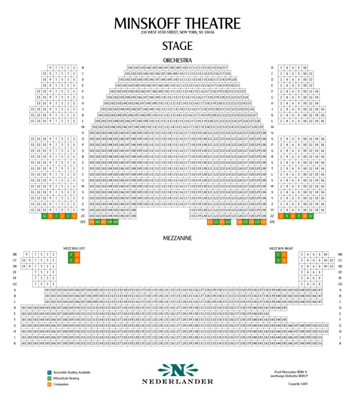 Minskoff theatre seating chart heart impulsar co
