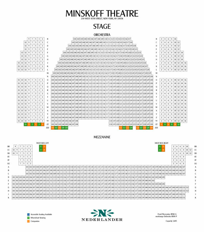 Minskoff theatre new york tickets schedule seating charts
