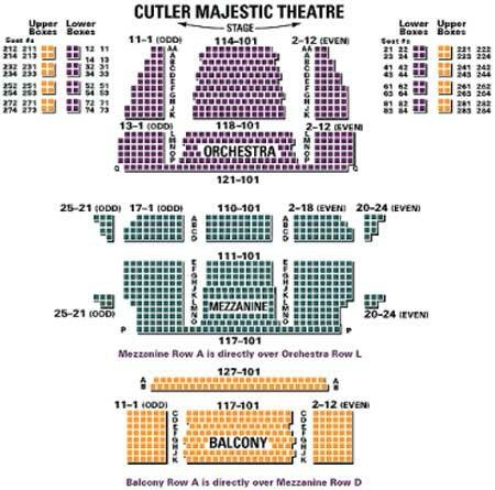 Emerson cutler majestic theatre boston tickets schedule seating