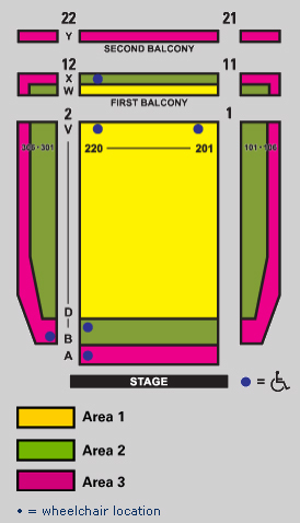 guthrie seating chart