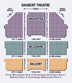 Shubert theatre new york tickets schedule seating charts goldstar