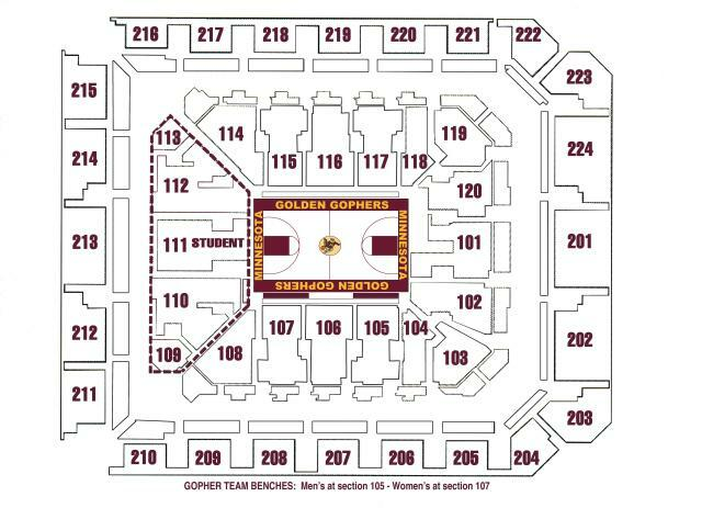 Williams arena minneapolis st paul tickets schedule seating