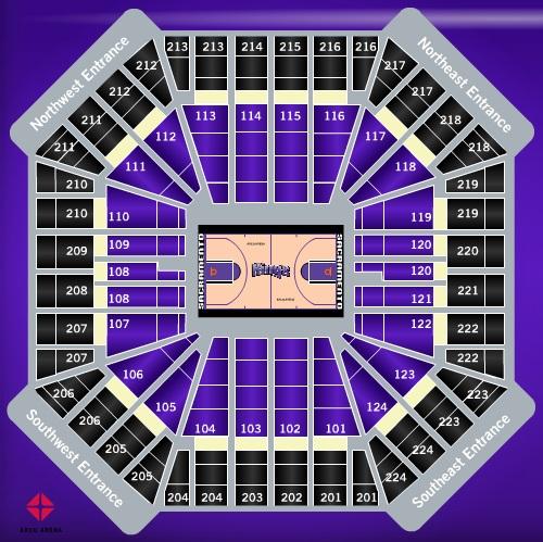 Sacramento kings arena seating chart heart impulsar co