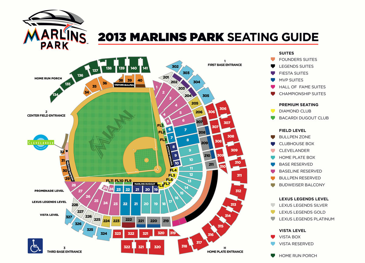 Marlins park miami ft lauderdale tickets schedule seating