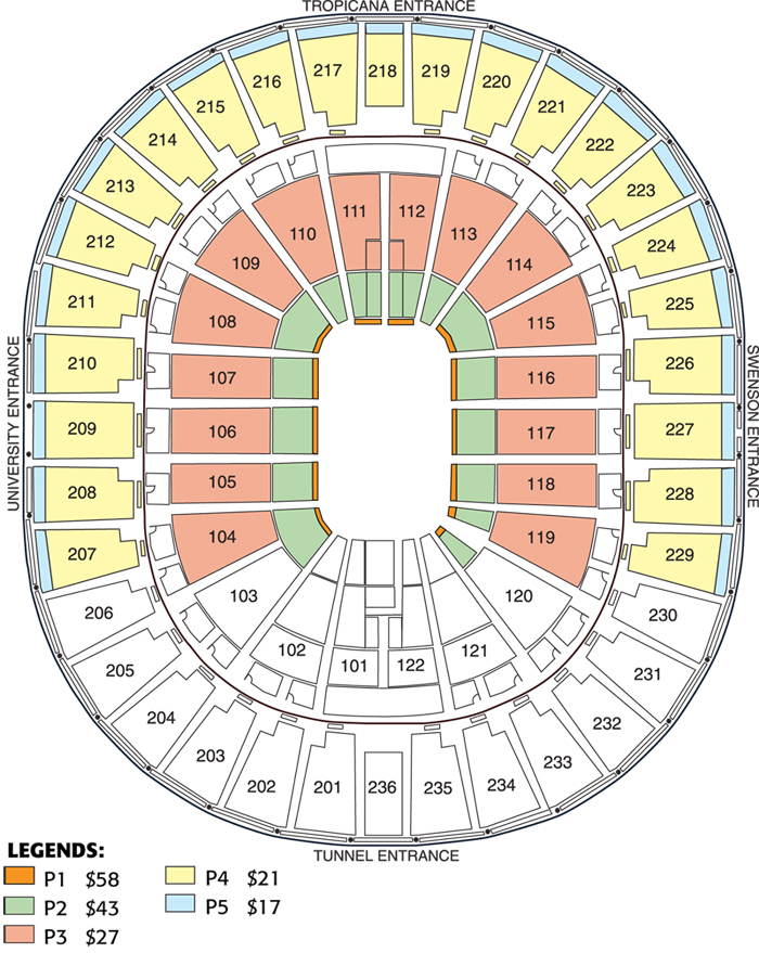 Thomas mack center las vegas tickets schedule seating charts