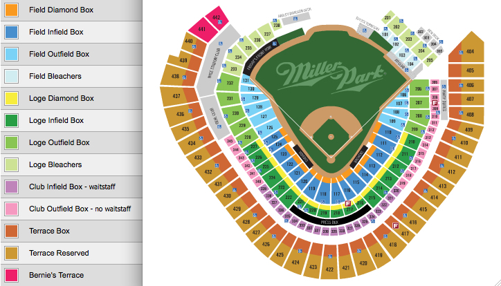 Miller park milwaukee wi tickets schedule seating charts goldstar