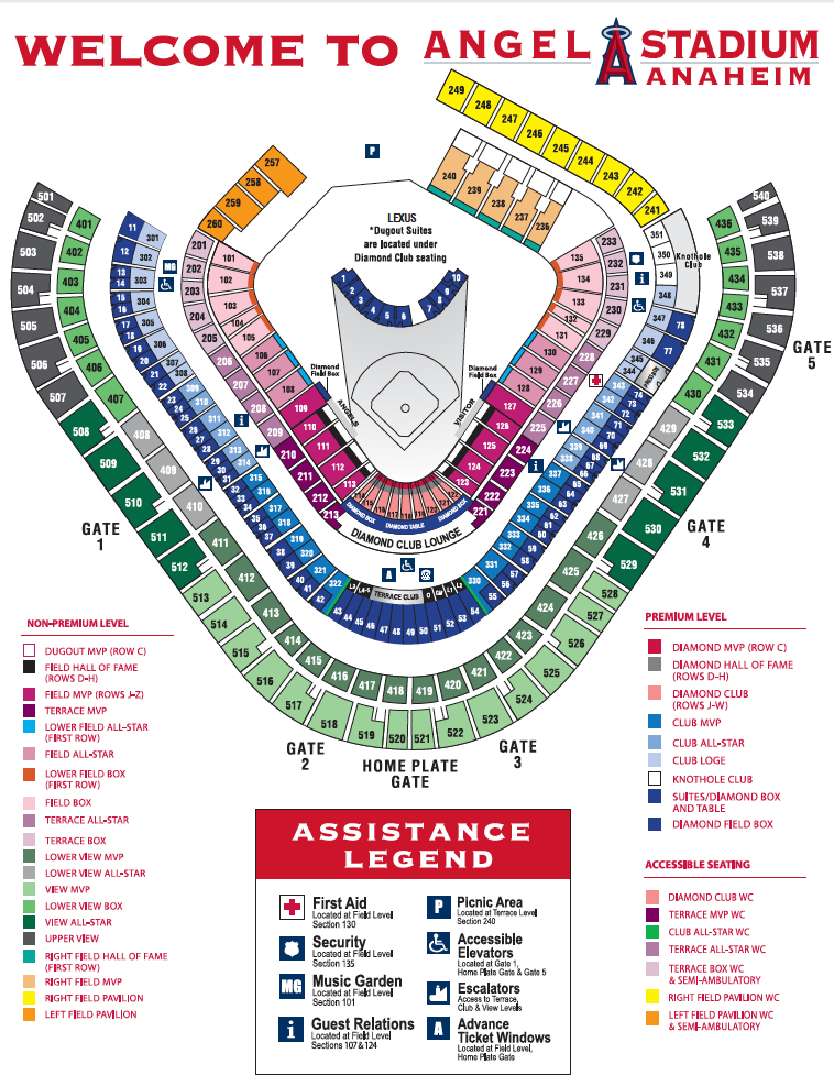 Angel stadium of anaheim orange county tickets schedule