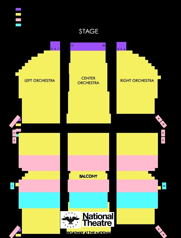 The national theatre washington d c tickets schedule seating
