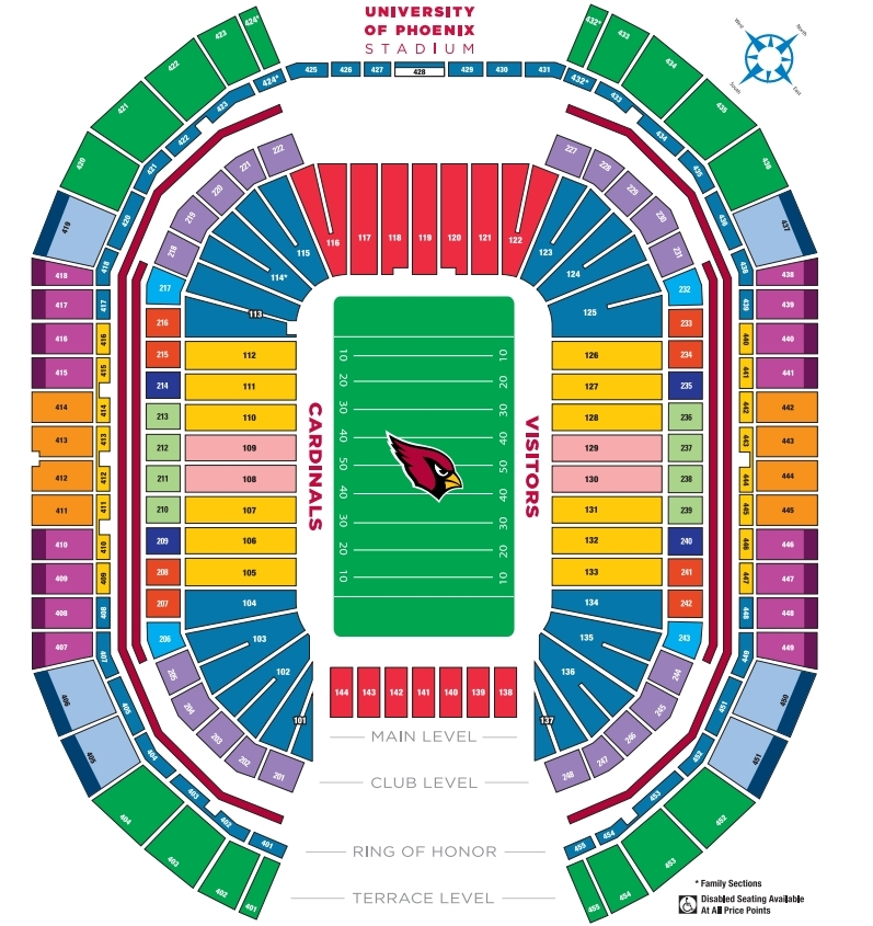 University of phoenix stadium phoenix tickets schedule seating