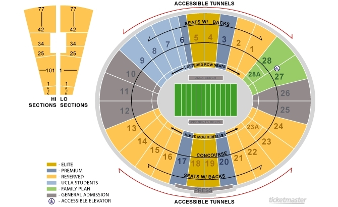 Rose bowl los angeles tickets schedule seating charts goldstar