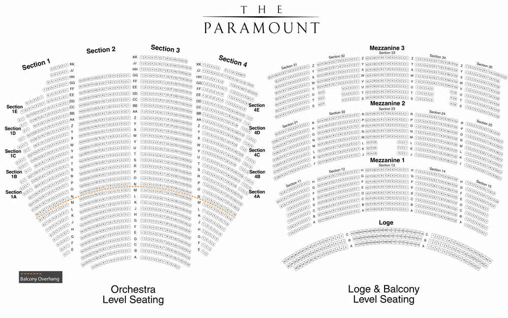 The paramount theatre seattle tickets schedule seating charts