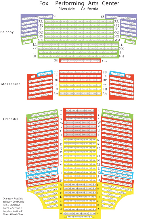 Fox Performing Arts Center Inland Empire Tickets Schedule. Seating Charts. Seat. Riverside Fox Theatre Seating Diagram At Scoala.co