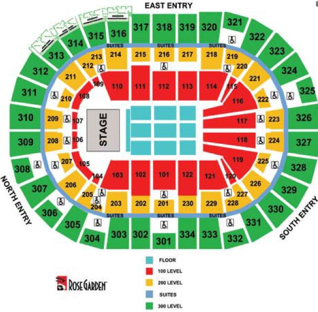 Moda center concert seating chart heart impulsar co