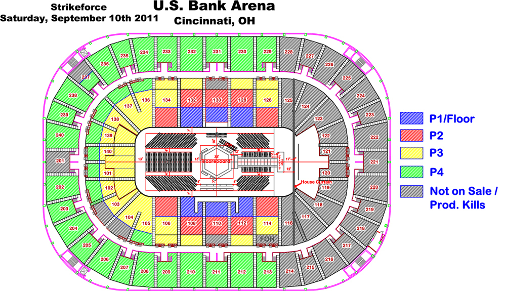 US Bank Arena Cincinnati Tickets Schedule Seating Charts - Us bank arena seat map