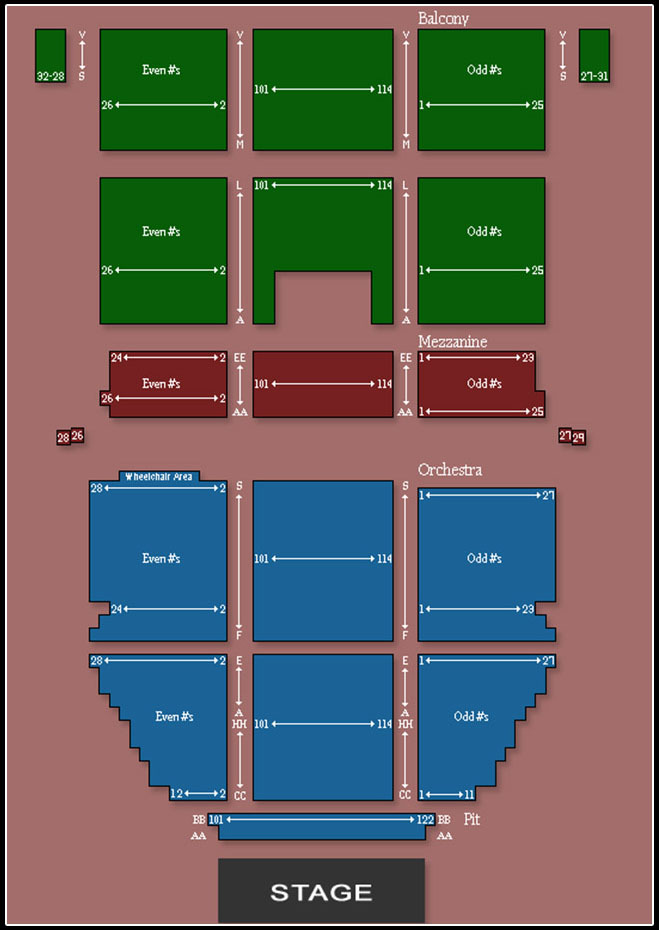 Saban theatre los angeles tickets schedule seating charts goldstar