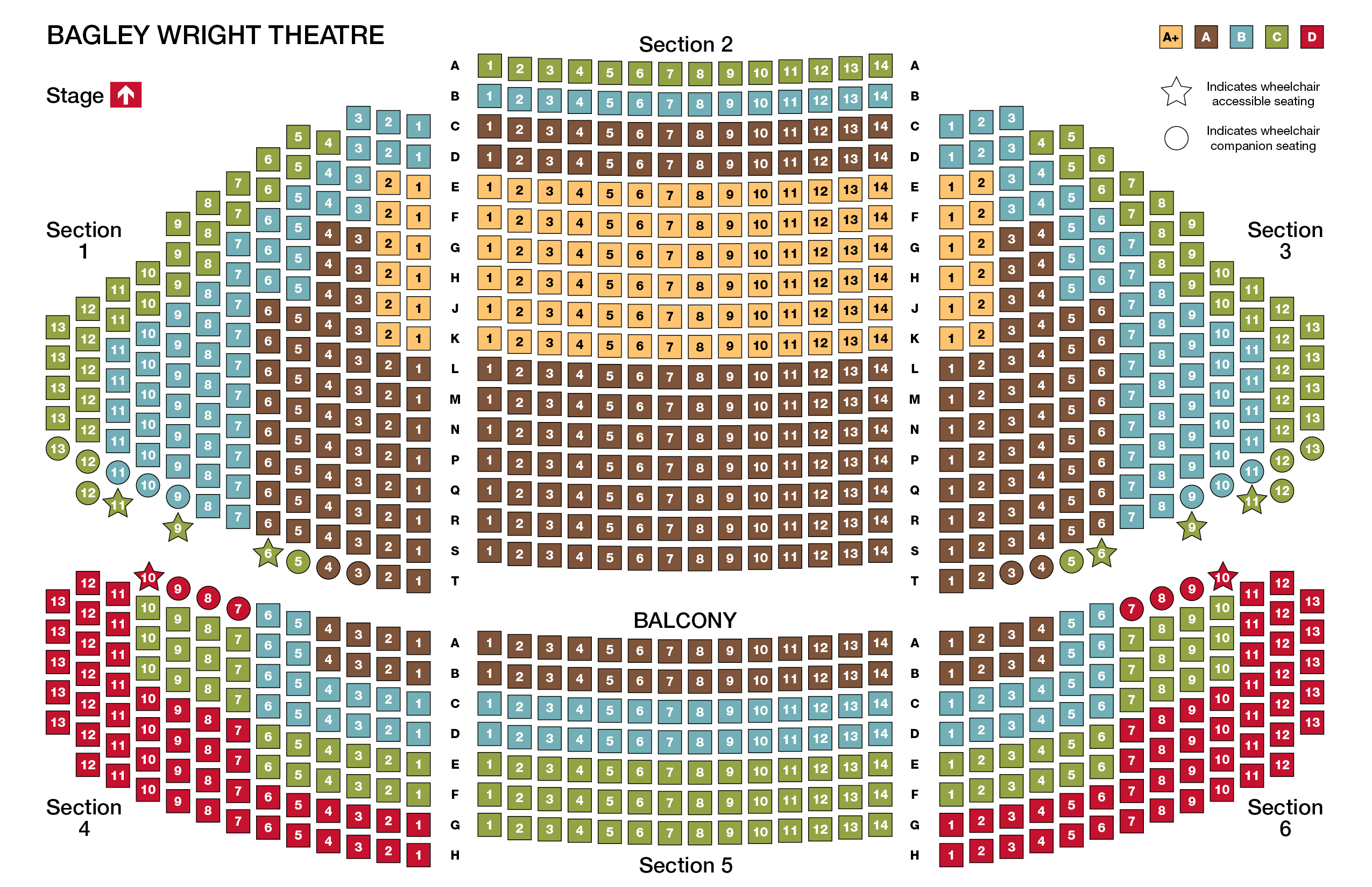 Bagley Wright Theatre at Seattle Rep Seating Chart